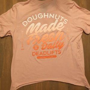 Doughnuts and Deadlifts tee - medium